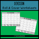 Division - Roll and Cover Worksheets