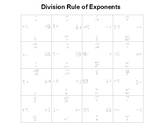 Division Rule of Exponents Fun Square Puzzle