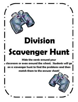 Division Scavenger Hunt/ Center game