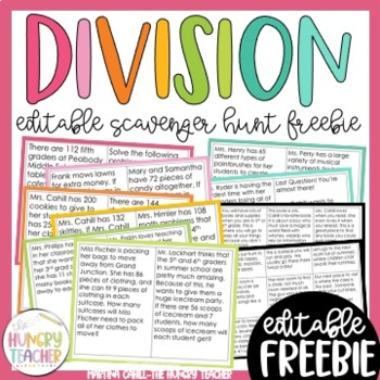 Division Scavenger Hunt Game {4th and 5th Grade Common Cor