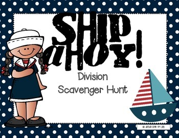 Division Scavenger Hunt-(Whole Numbers)