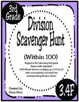 Division Scavenger Hunt: Within 100 (TEKS 3.4F)