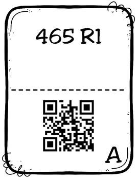 Division Scavenger Hunt with QR Codes (TEKS 4.4F)