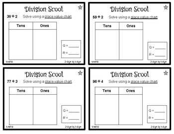 Division Scoot #1 (2-digit by 1-digit) - 4.NBT.6 - Game - Small Group