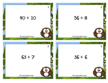 Division Fact Scoot Activity/Task Cards