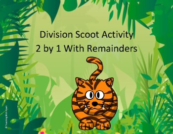 Division Scoot Activity/Task Cards - 2 digit by 1 digit - With Remainders
