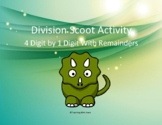 Division Scoot Activity/Task Cards - 4 digit by 1 digit - With Remainders