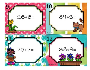 Division Scoot Game- 2 digit divided by 1 digit