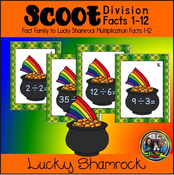St. Patrick's Day Math Scoot for Division