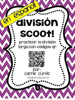 QR Code Division Scoot in Spanish en espanol