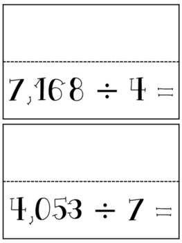 Division Scrambler With and Without Remainders - 4.NBT.6