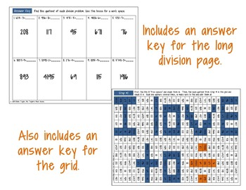 Division Secret Message (Long Division Practice) 4.4D