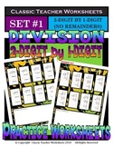 Division 2-Digit by 1-Digit (Set #1) - No Remainders -Grades 4-5 (4th-5th Grade)