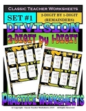 Division 2-Digit by 1-Digit (Set #1) - Remainders - Grades 4-5 (4th-5th Grade)