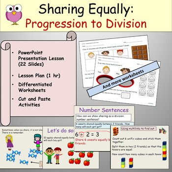 division sharing equally powerpoint presentation worksheets lesson plan. Black Bedroom Furniture Sets. Home Design Ideas