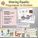 Division  Sharing Equally, PowerPoint Presentation, Worksheets, Lesson Plan