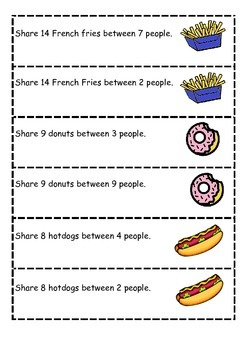 Division: Sharing Food Play Dough Activity & Online Practice Games