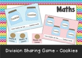 Division Sharing Game - Cookie Jars - Great intro into Division. Maths Centers