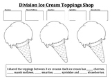Division / Sharing Ice Cream Toppings Craftivity