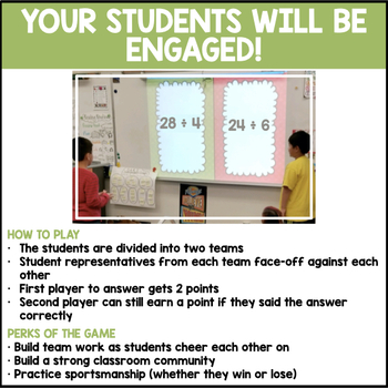 Division Facts Quotient to 12 (Spring Edition)