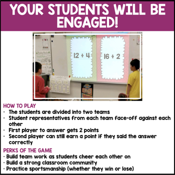 Division Facts Quotients to 12 (Valentine's Edition)