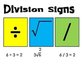 Division Signs