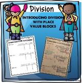 Division, Singapore Math, Dividing using Place Value Block