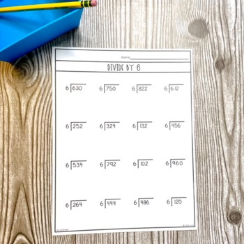 Division Worksheets with Single Digit Divisors