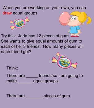 Division-Size of Equal Groups Smartboard Activity 3rd Grade Go Math!
