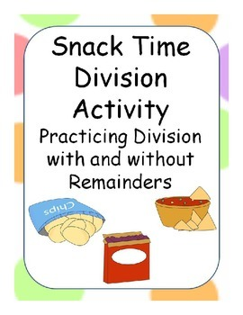 Division Snack Activity with Remainders