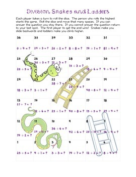 Division Snakes & Ladders