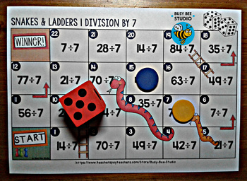 """Division Game """"Snakes and Ladders"""""""