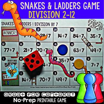 "Division Game ""Snakes and Ladders"""