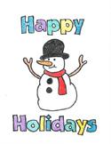 Division Snowman Coloring Sheet
