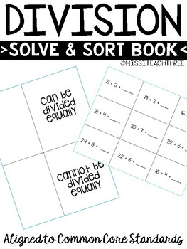 Division Solve and Sort Book Divide Evenly or Unevenly