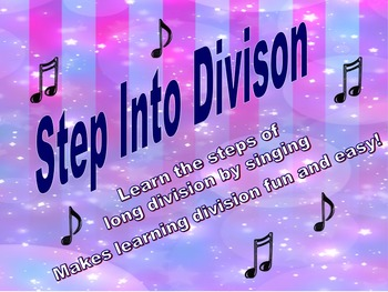 Long Division Made Fun and Easy with an Upbeat Song!