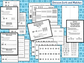 Division Sorts and Matches