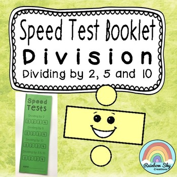 Division Speed Test Booklet - Dividing by 2, 5, 10