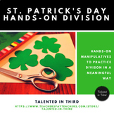St. Patrick's Day Math - Division Math Center Hands On with Manipulatives