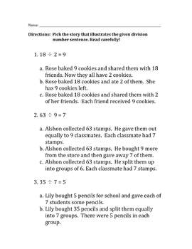 Division Story Practice