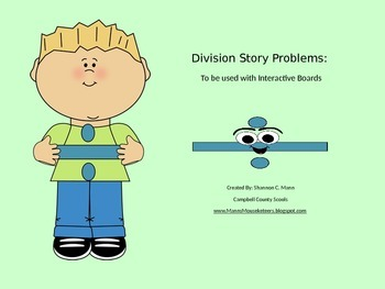 Division Story Problems: PPT to be used for student manipulation