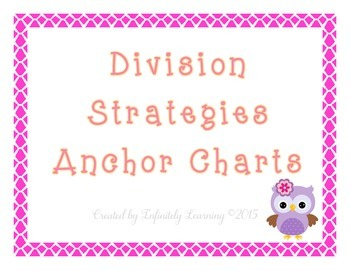 Division Strategies Anchor Charts