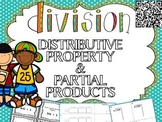 Division Strategies (Distributive Property and Partial Products) Task Cards