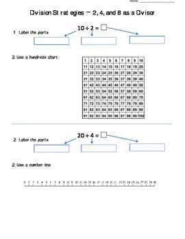 Division Strategies For Divisor of 2, 4 and 8
