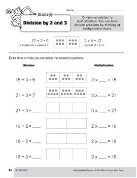 Division Strategies, Grade 3: Division by 2 & 3