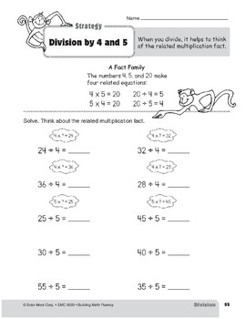 Division Strategies, Grade 3: Division by 4 & 5