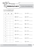 Division Strategies, Grade 3: Division by 8 & 9