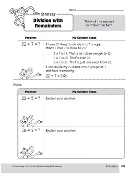 Division Strategies, Grade 3: Division with Remainders