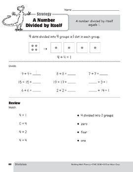 Division Strategies, Grades 4-6+: A Number Divided by Itself