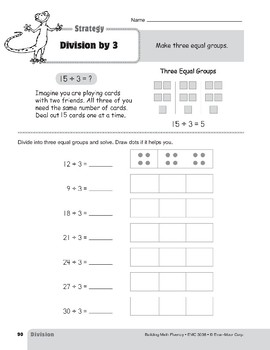 Division Strategies, Grades 4-6+: Division by 3